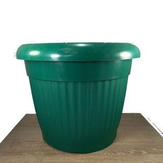 Maceta-verde-con-plato-#-34