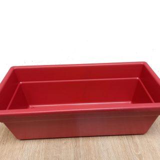 Jardinera-Plastica-pequeña-Roja–x-40-cm