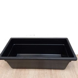 Jardinera-Plastica-pequeña-negra x-40-cm