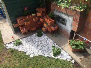 como decorar macetas con plantas naturales