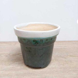 maceta-barro-verde–conica-vivero-online